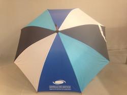 Parapluies panneaux bleus/blanc