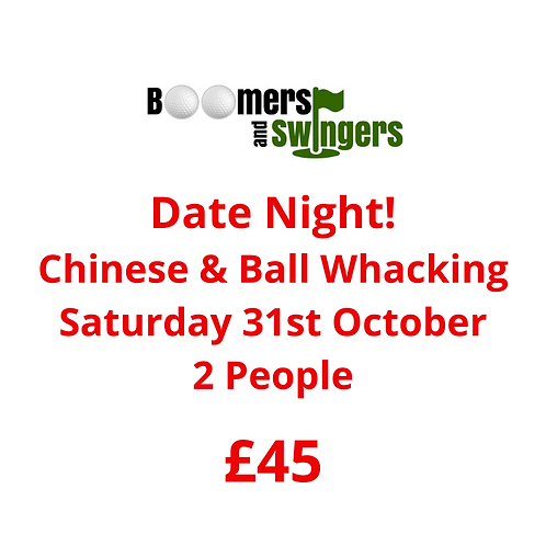 Saturday 31st October - 2 people 6pm-9pm