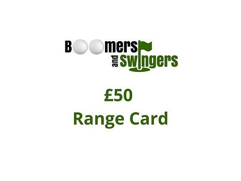 Range Ball Credit - £50