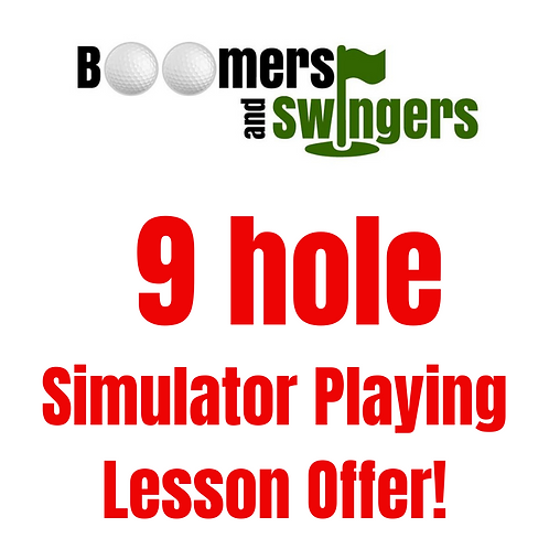 9 hole simulator playing lesson offer
