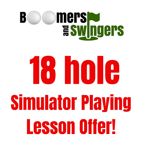 18 hole simulator playing lesson