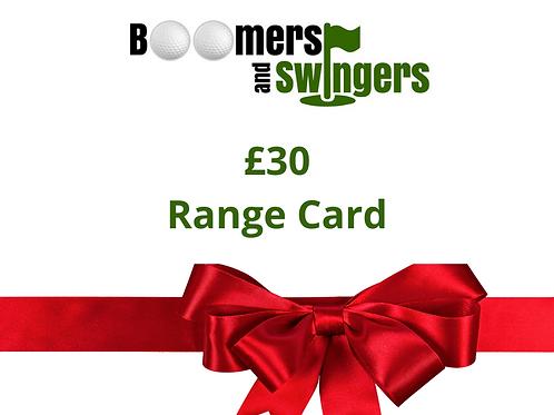Christmas Voucher Range Ball Credit - £30