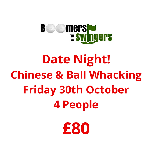 Friday 30th October - 4 people 6pm - 9pm