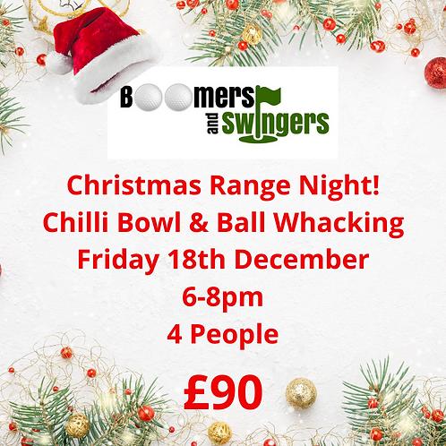 Christmas Range Nights - Friday 18th December 6-8pm (4 people)