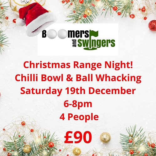 Christmas Range Nights - Saturday 19th December 6-8pm (4 people)