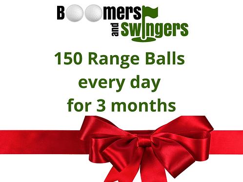 3 Months Range Balls - Christmas Voucher