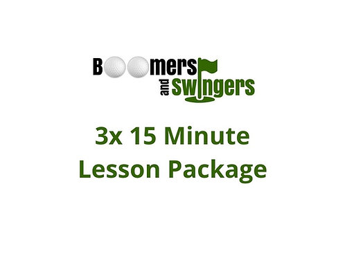 3x 15 Minute Quick Fix Lesson Package