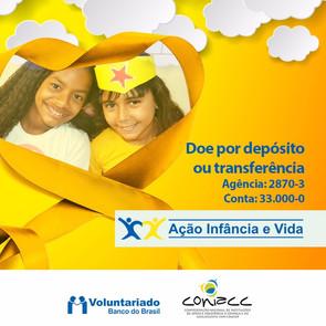 AçãoInfânciaeVidado Banco do Brasil arrecada doações até o final de outubro