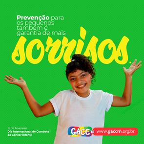 Não ignore. Diagnóstico precoce, é a melhor maneira de prevenir o câncer infantil.