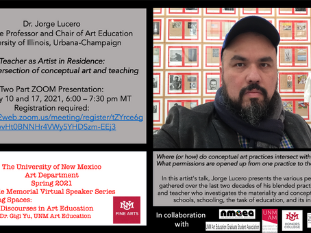 """Dr. Jorge Lucero """"On the intersection of conceptual art and teaching"""""""