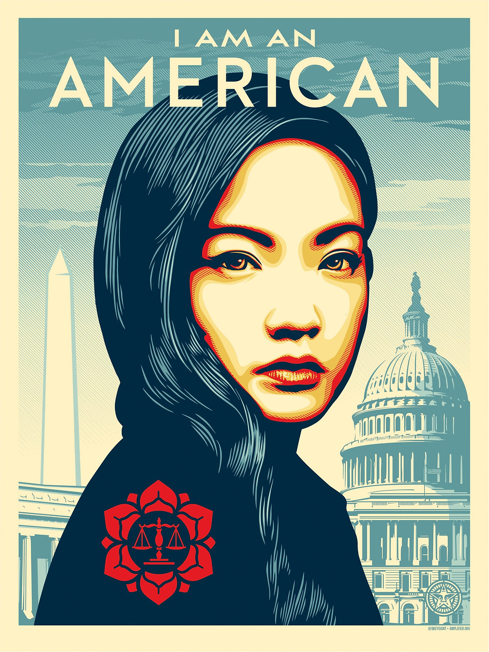 """Free graphic image """"I am an American"""" by Shepard Fairey"""