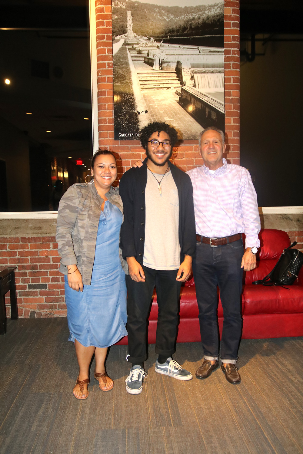 Mekhi with his mother and ET board member, Lorie Mendoza, and ET Scholarship Funder, Louis Luciano