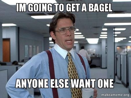 It all starts with a bagel