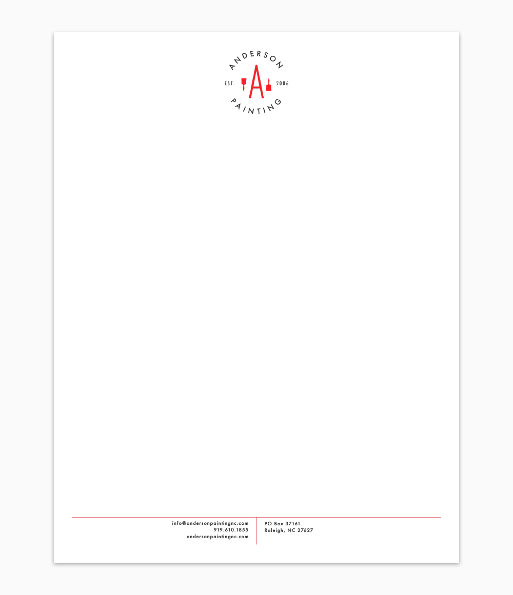 Anderson Painting Letterhead