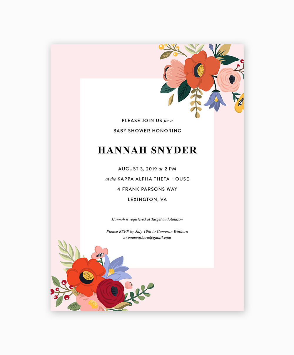 Baby Show Invite