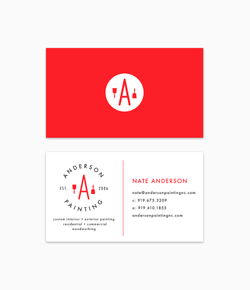 Anderson Painting Business Card