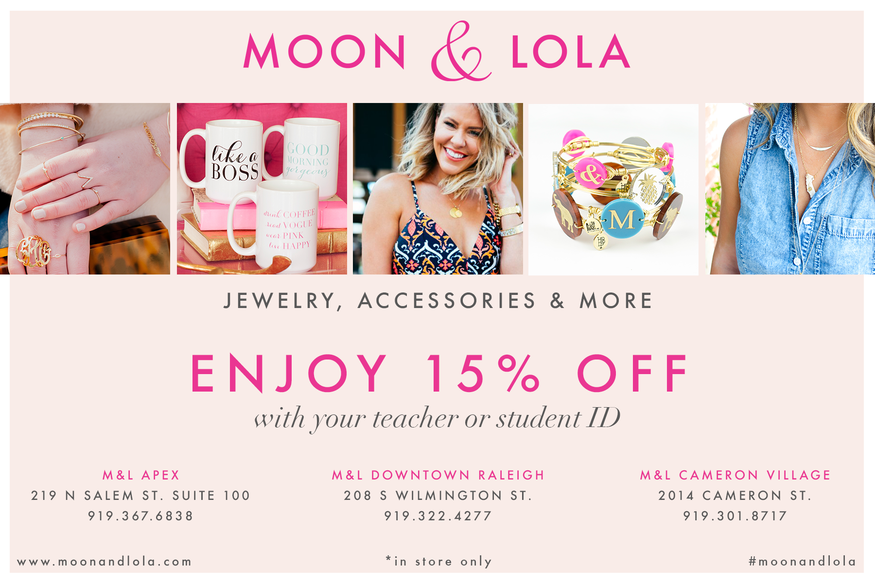 M&L Student teacher discount card