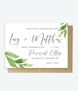 Welcome Party Invite