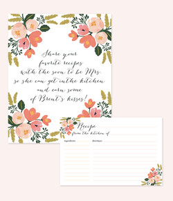 Bridal Shower Sign and Recipe Card