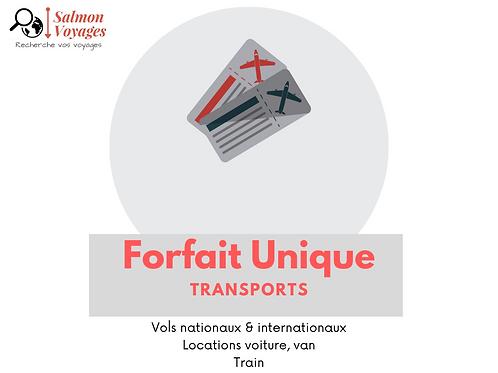 Forfait Unique - Transports - 15€/adulte