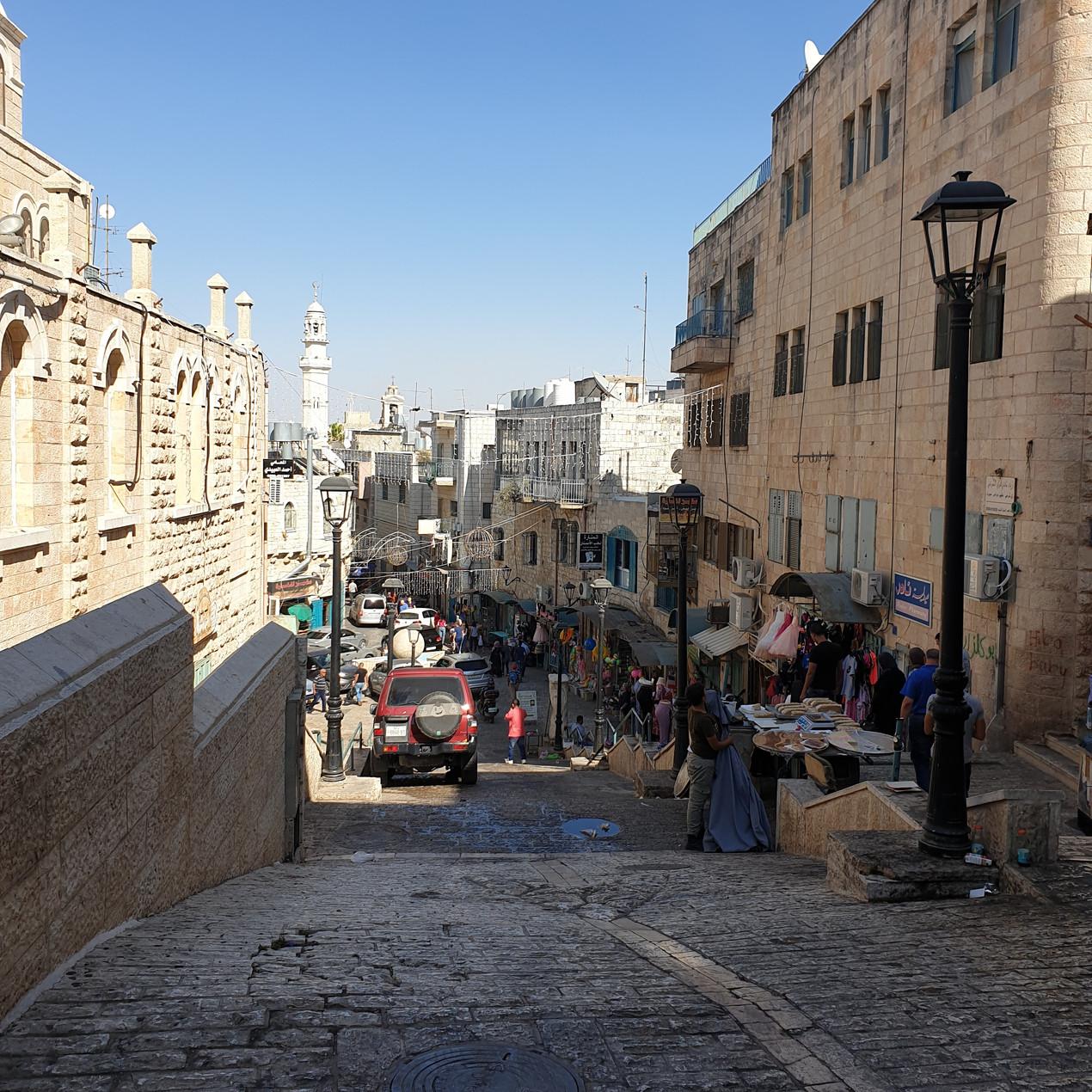 Le centre ville de Bethléem