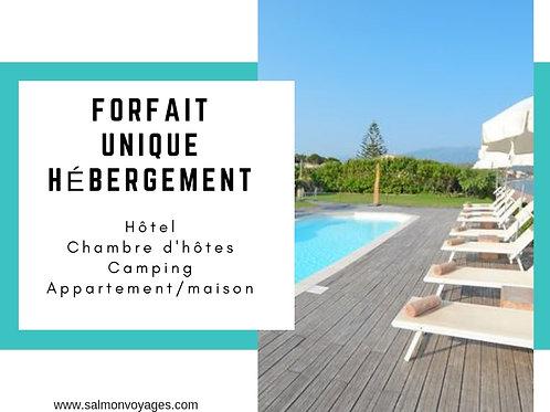 Forfait Unique - Hébergement - 15€/adulte