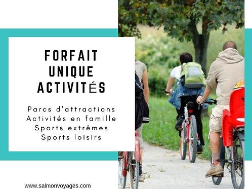 Forfait Unique - Activités - 15€/adulte