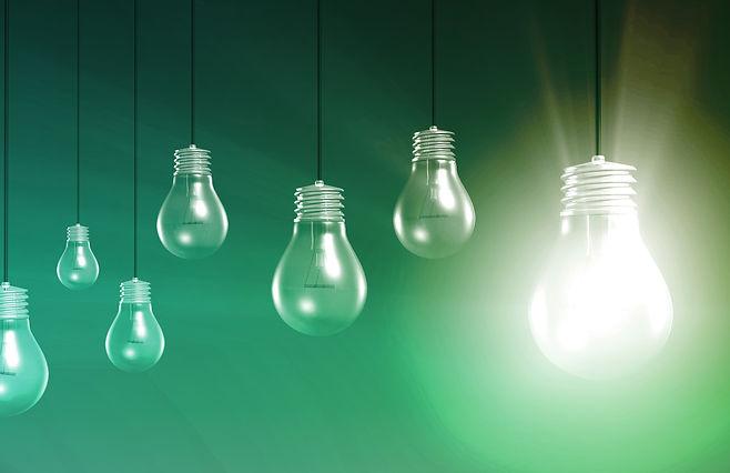 Innovation lightbulbs