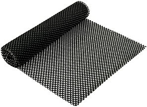 A roll of black anti-skid matting - a rubber type material that adds grip.