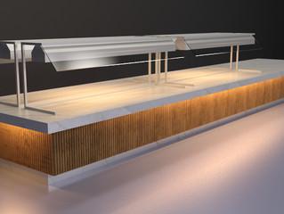 Superfície Lisa Quente e Fria: Buffet e Mesa em um mesmo mobiliário
