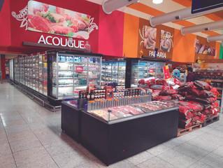 Exposição de Carnes Embaladas nos Supermercados