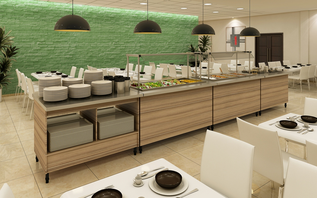 Balcão Buffet Self-Service Linha AK3