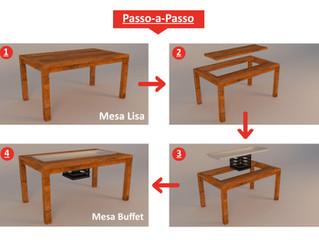 Mesa Madeira de Demolição 2 em 1 – Reversível: Buffet & Mesa