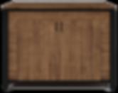 Balcão Liso com Portas Giratórias