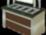Balcão Buffet Aquecido AK7 com Faixa em Inox