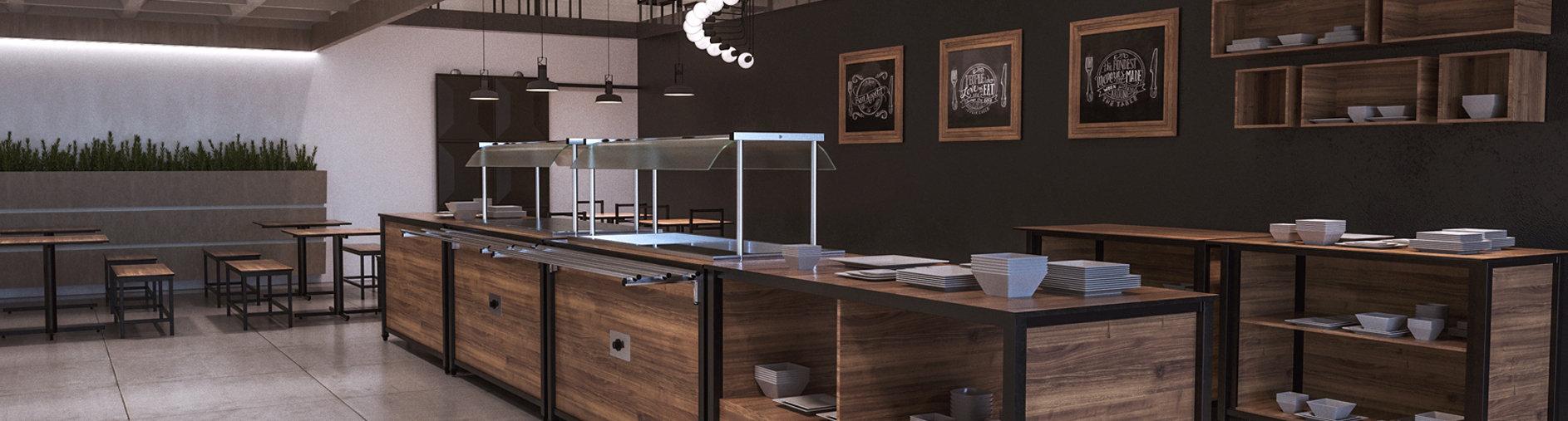 Testeira Restaurante- Estilo Industrial.