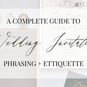 A Complete Guide to Phrasing and Addressing Your Wedding Invitation Suite | Water to Wine Events