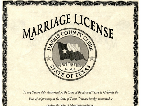 How to Obtain a Marriage License in Texas