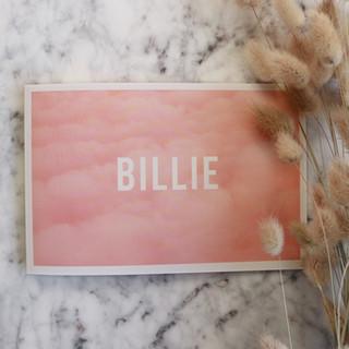 Billie-geboortekaartje-voorzijde-roze-wo