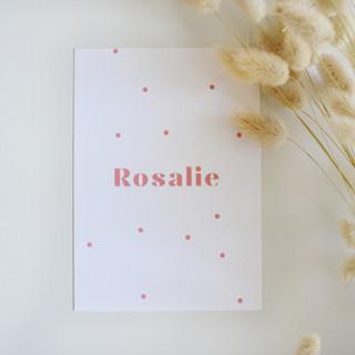 Rosalie-geboortekaartje-roze-bolletjes.j