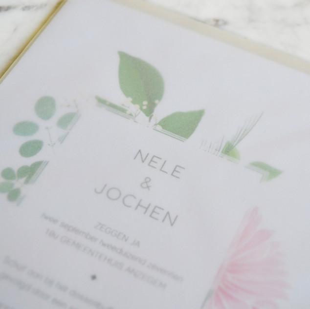 Nele en Jochen detail enveloppe kalkpapi