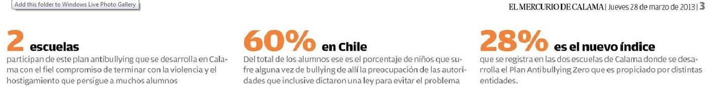 Mercurio de Calama-Chile