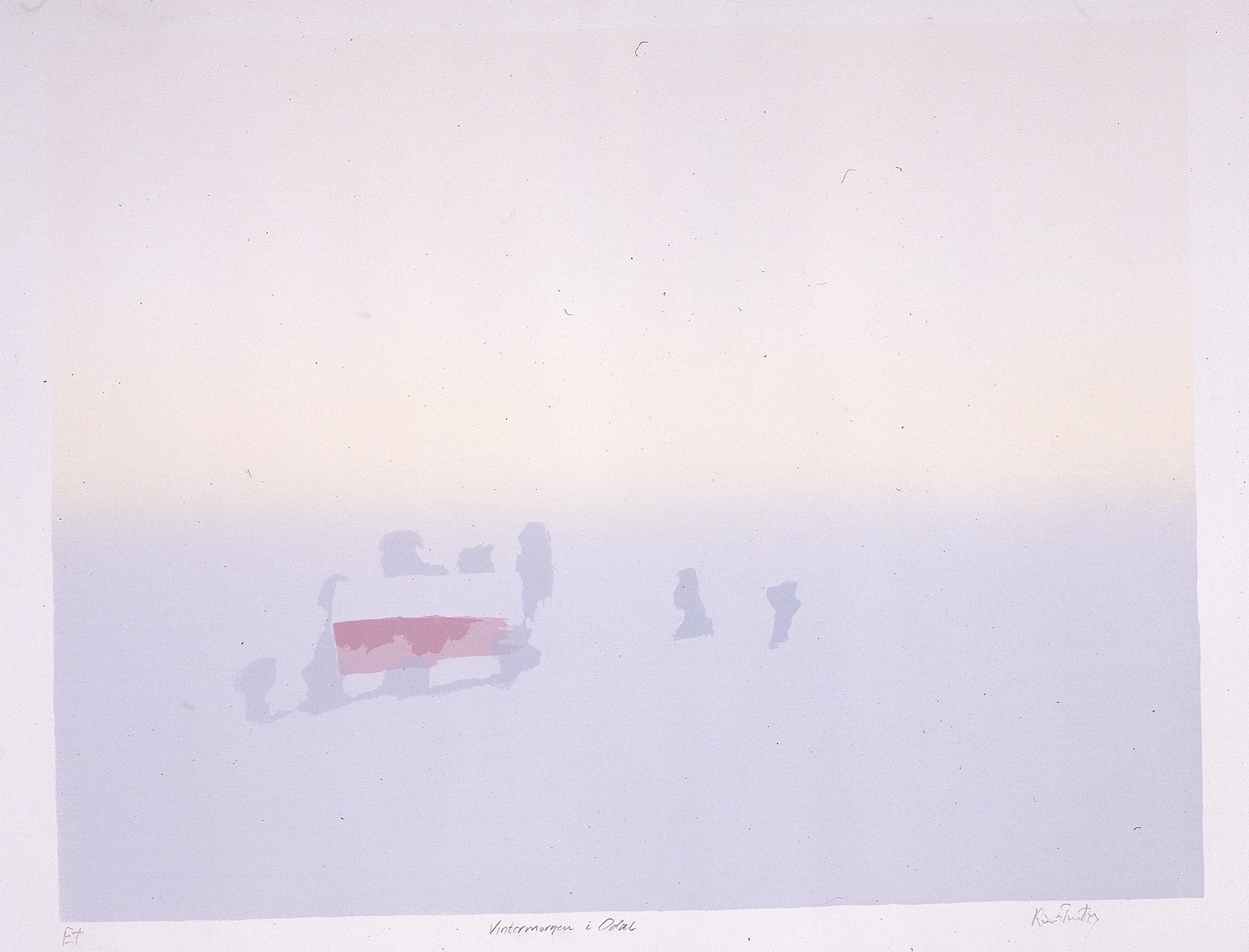 Grafisk trVintermorgen, Odalen