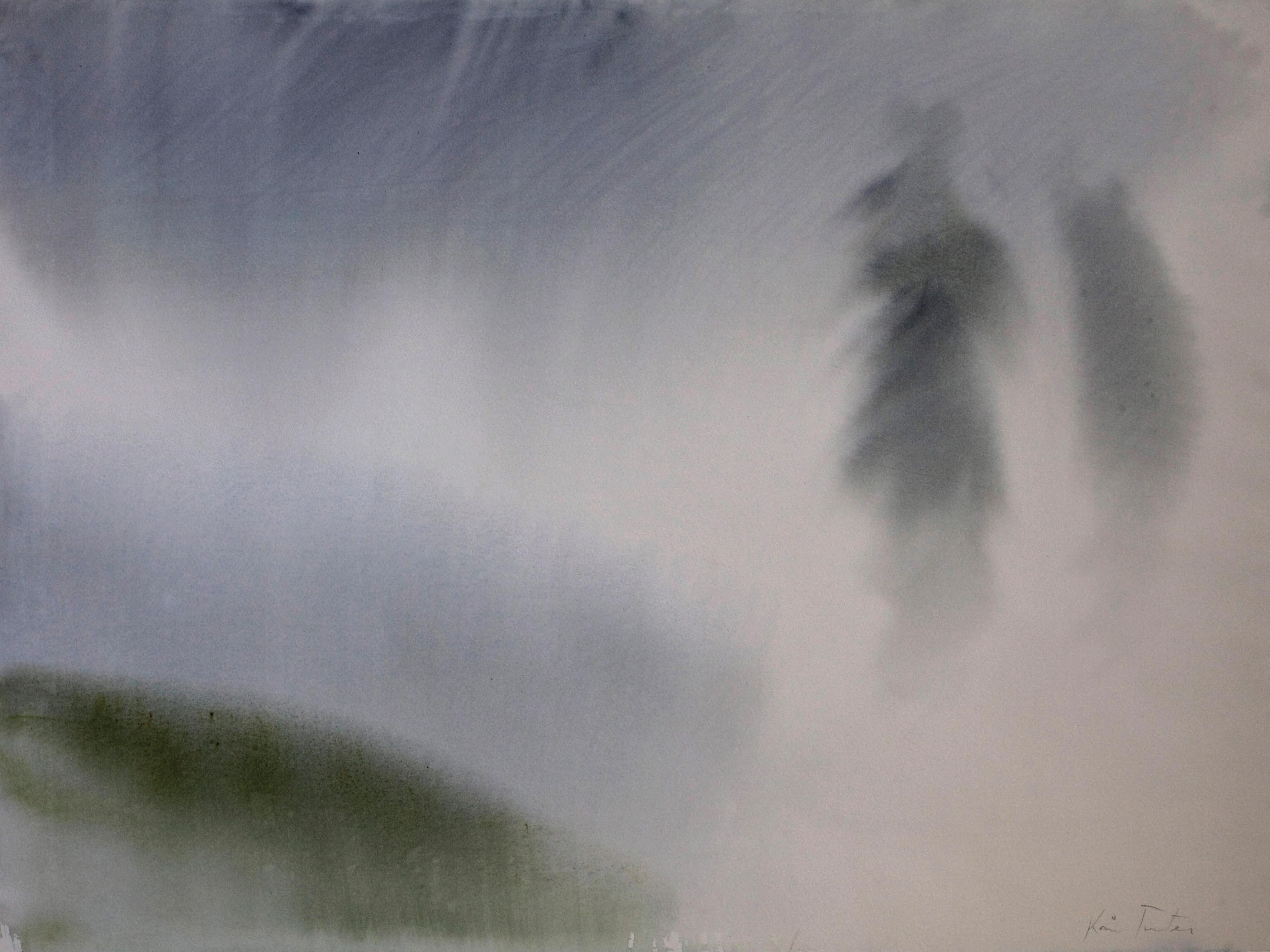 Akvarell - Vinterlandskap