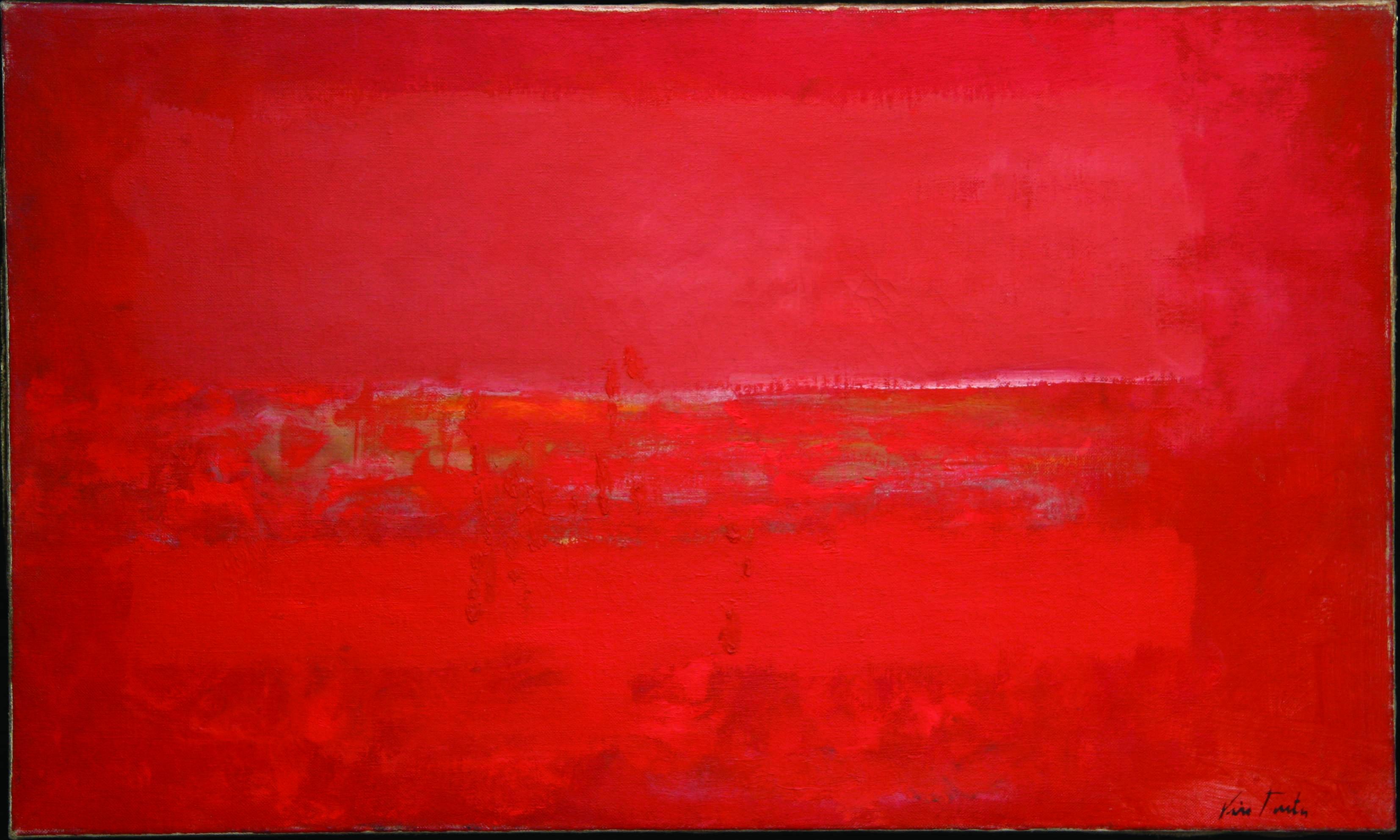 Olje - Landskap i rødt