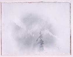 Akvarell - Tåke i liene