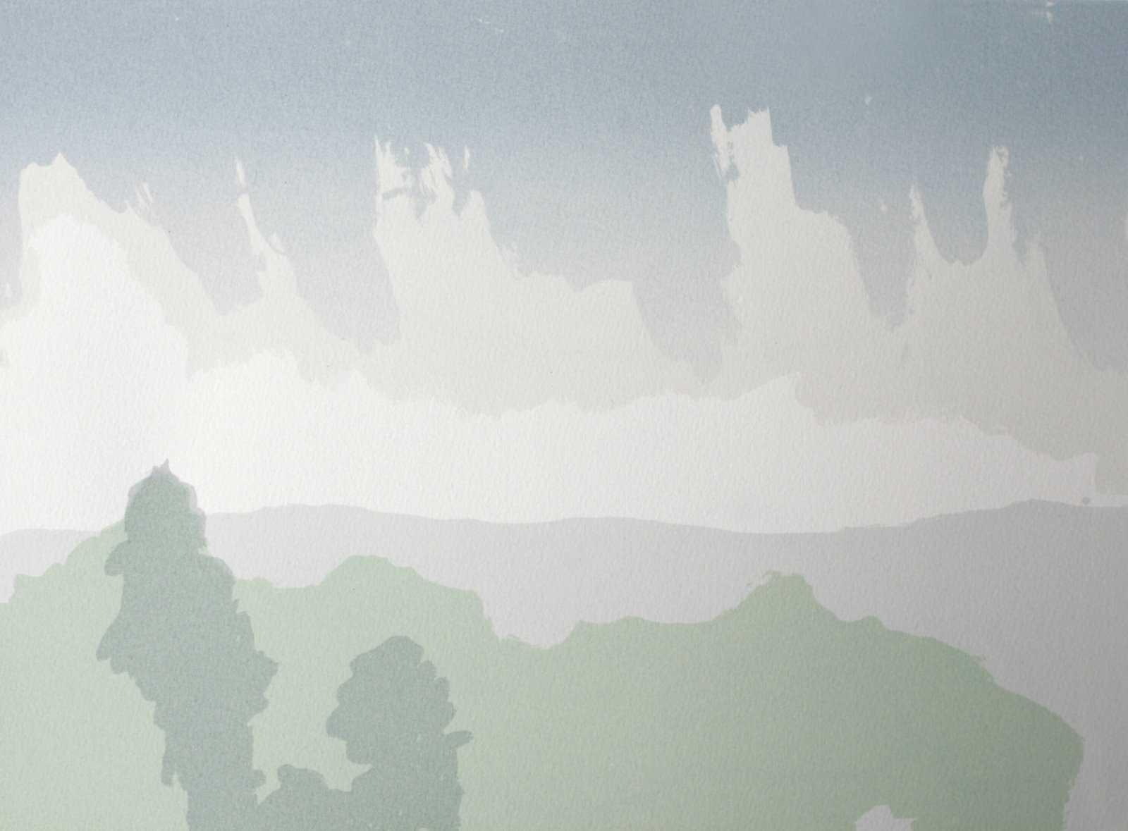Grafisk trykk - Regn i Odalen