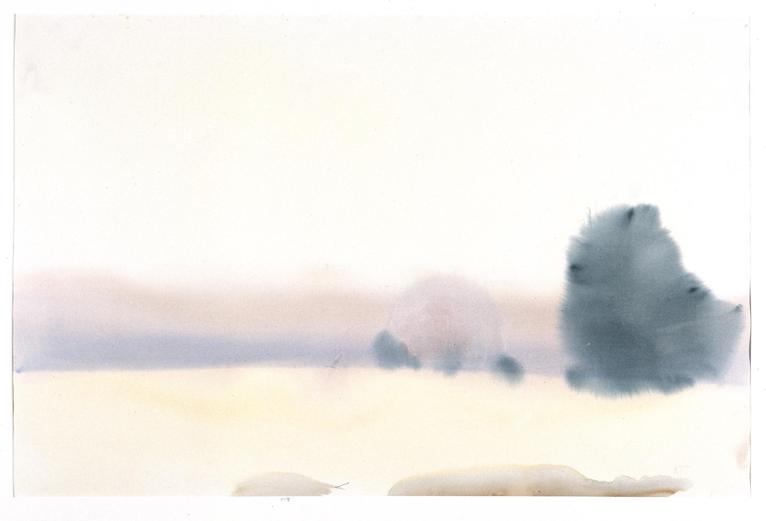 Akvarell - Høstkveld