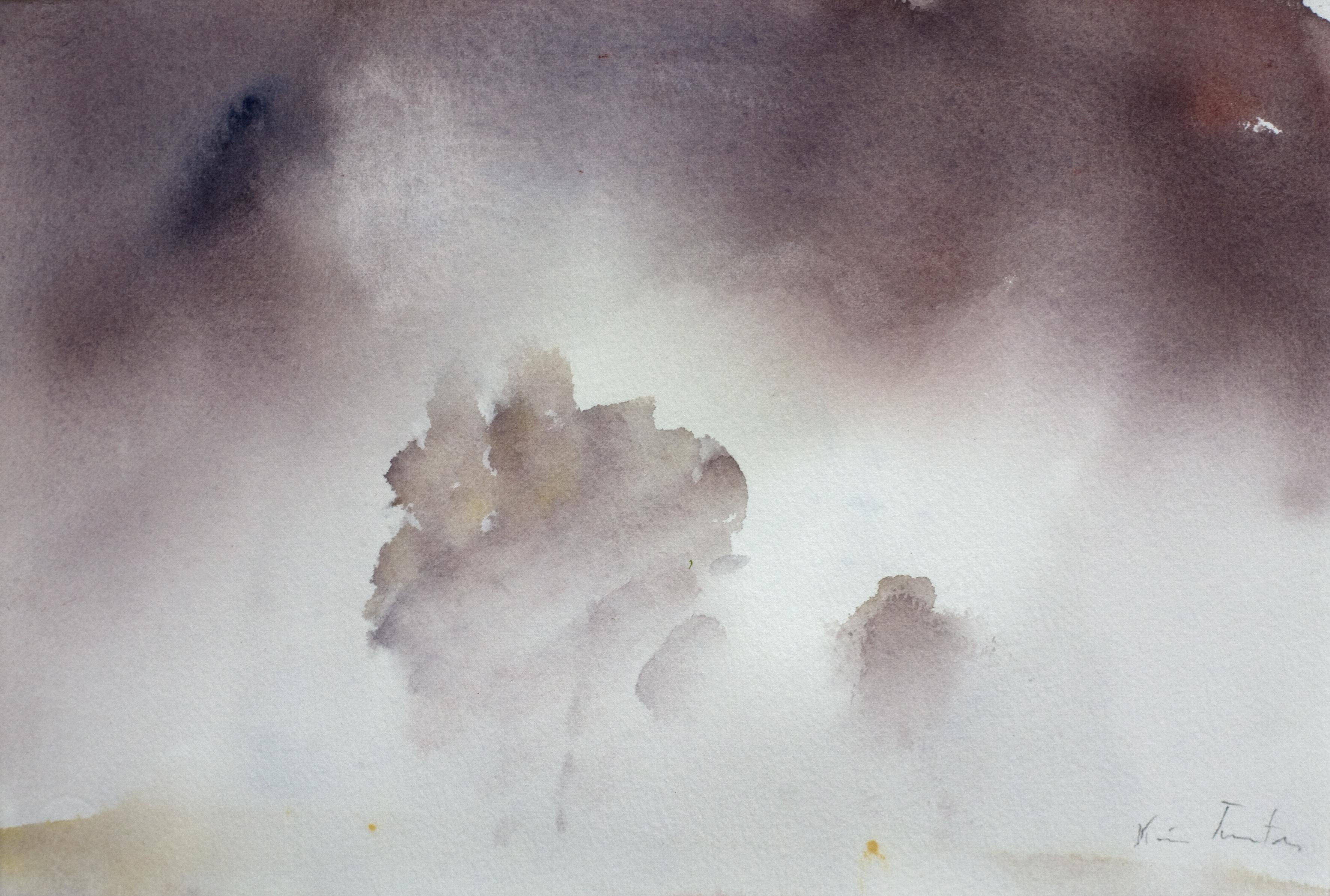 Akvarell - Høstmorgen