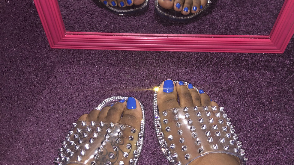 Prissy Clear Jelly Slide Sandals